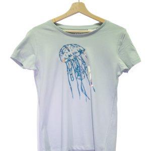 Luchtgroen t-shirt met disco kwal